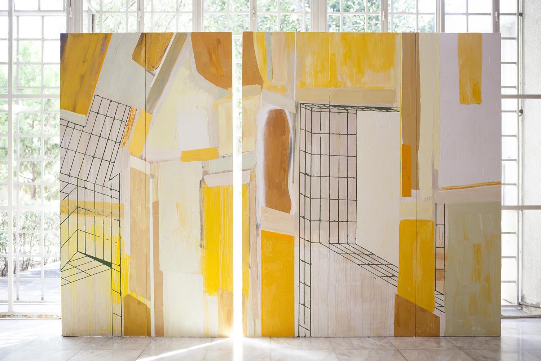 Natacha Mankowski, Monument #4 - part 2, 2018, oil on canvas, 600x210 cm