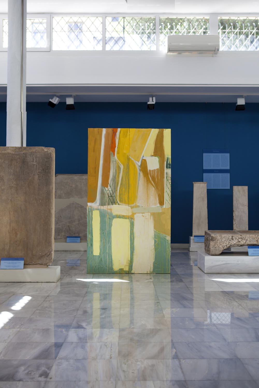 Natacha Mankowski, Monument #4 - part 1, 2018, oil on canvas, 600x210 cm