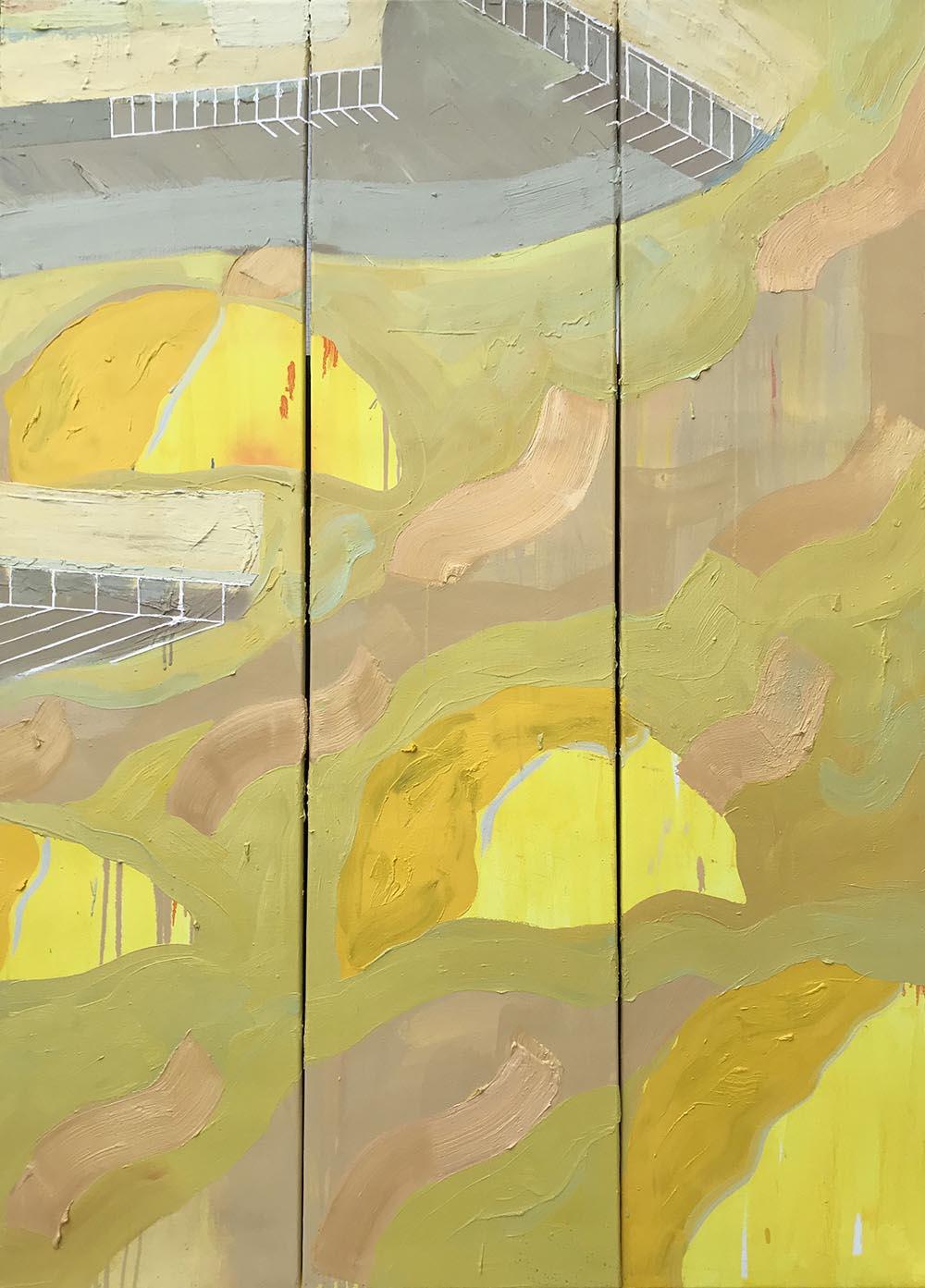 Natacha Mankowski, Pool #1, 2018, oil on canvas, 120x170 cm