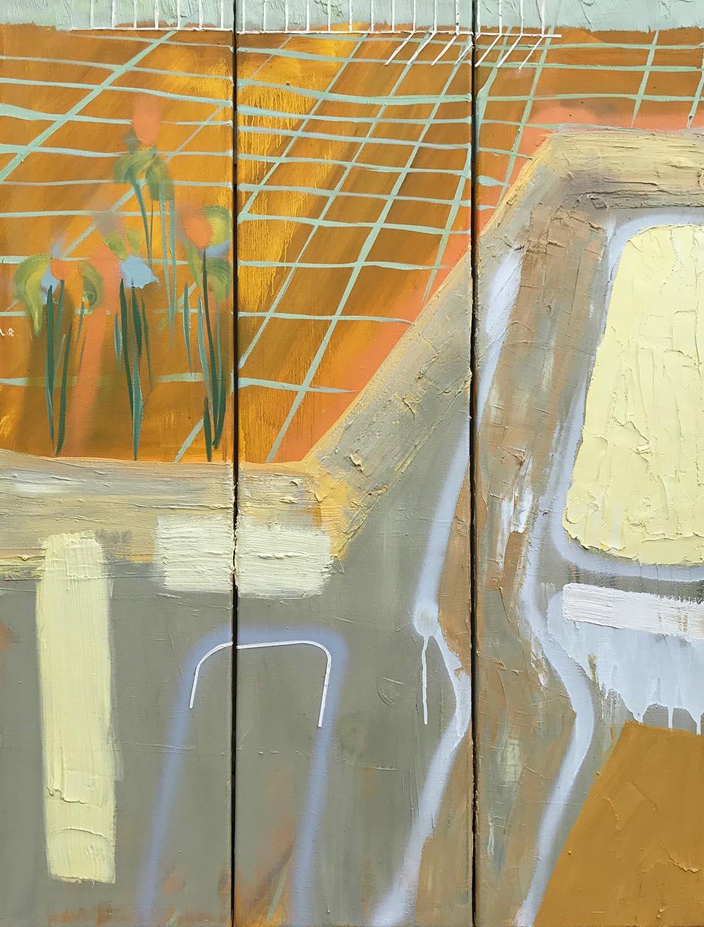 Natacha Mankowski, Pool #2, 2018, oil on canvas, 90x120 cm