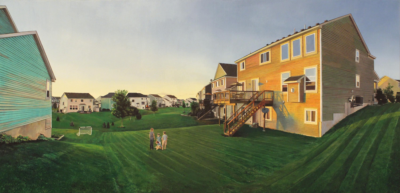 Title: Woodbury, Minnesota Year: 2015 Medium: Oil on Canvas Dimensions: 30 x 62 inches