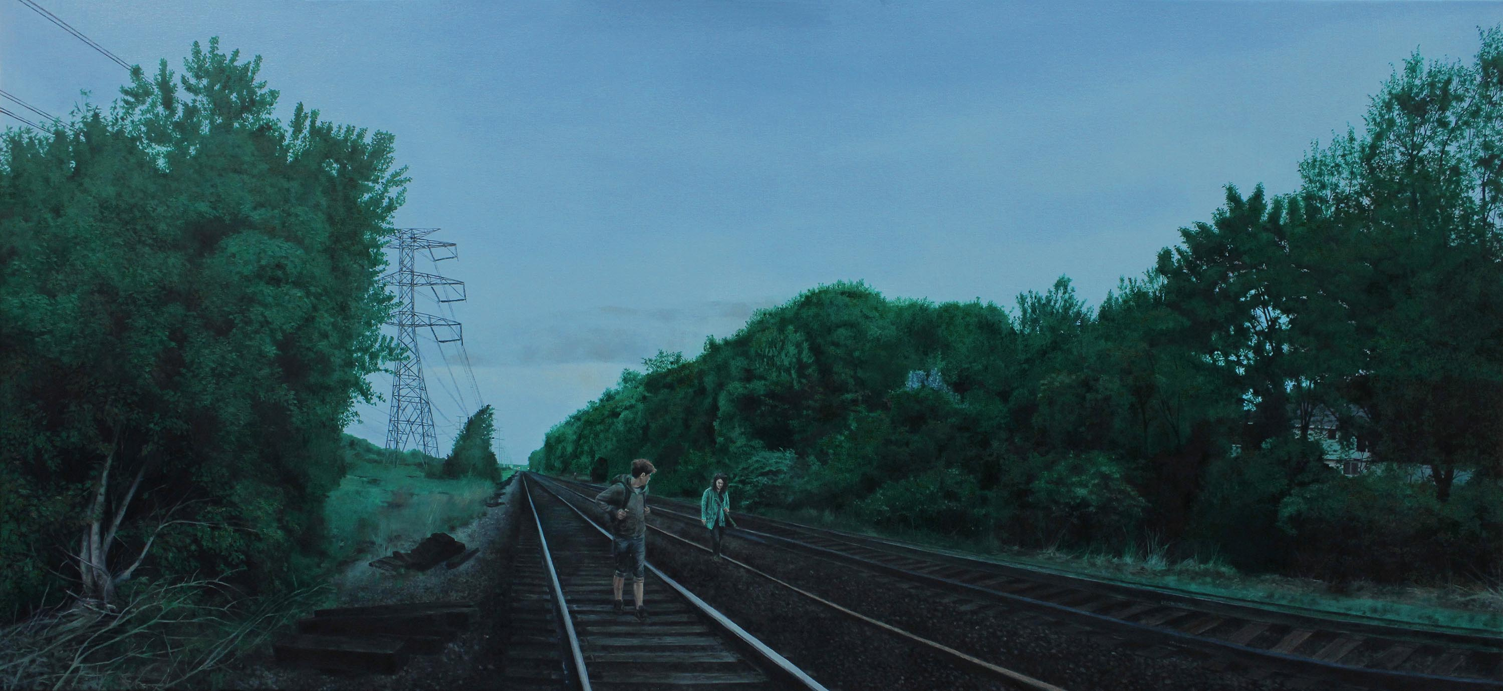 Title: Coon Rapids, Minnesota Year: 2015 Medium: Oil on Canvas Dimensions: 26 x 56 inches