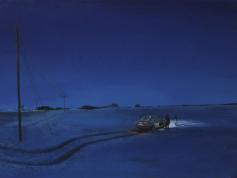 Title: Near Glencoe, Minnesota Year: 2014 Medium: Oil on Canvas Dimensions: 18 x 24 inches