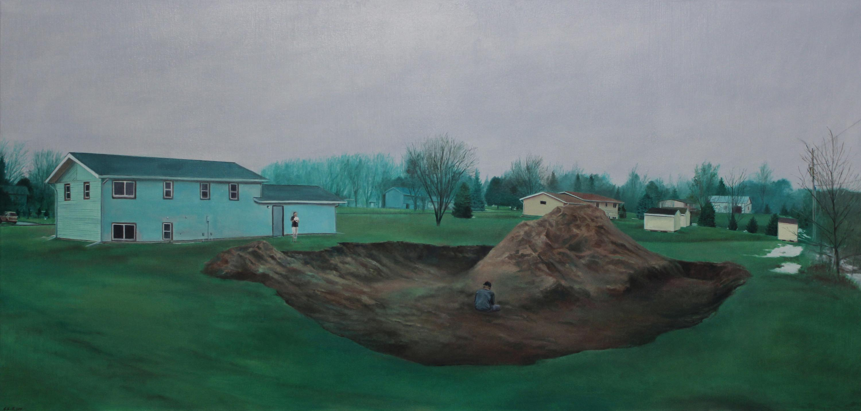 Title: Stearns County, Minnesota Year: 2013 Medium: Oil on Canvas Dimensions: 24 x 50 inches