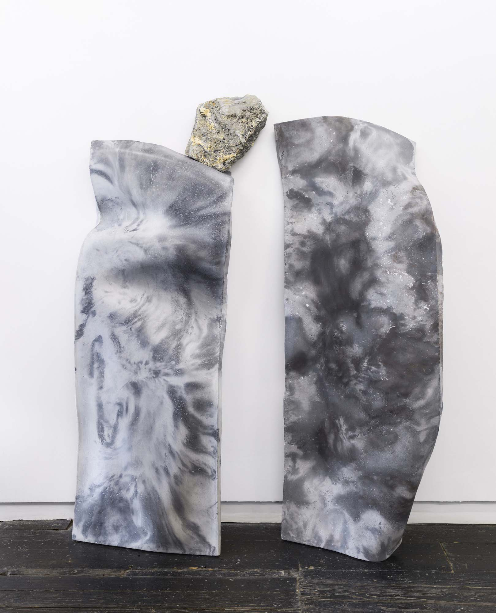 Rachel Mica Weiss, The Exchange (Fold VI & VII). 2018. Cast concrete, pigment, marble. 70.5