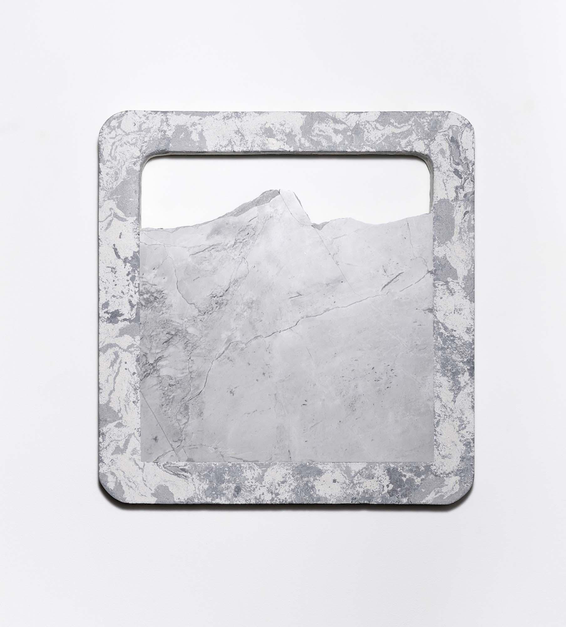 Rachel Mica Weiss, Bound Landscape I. 2018. Cast concrete, pigment, marble. 29