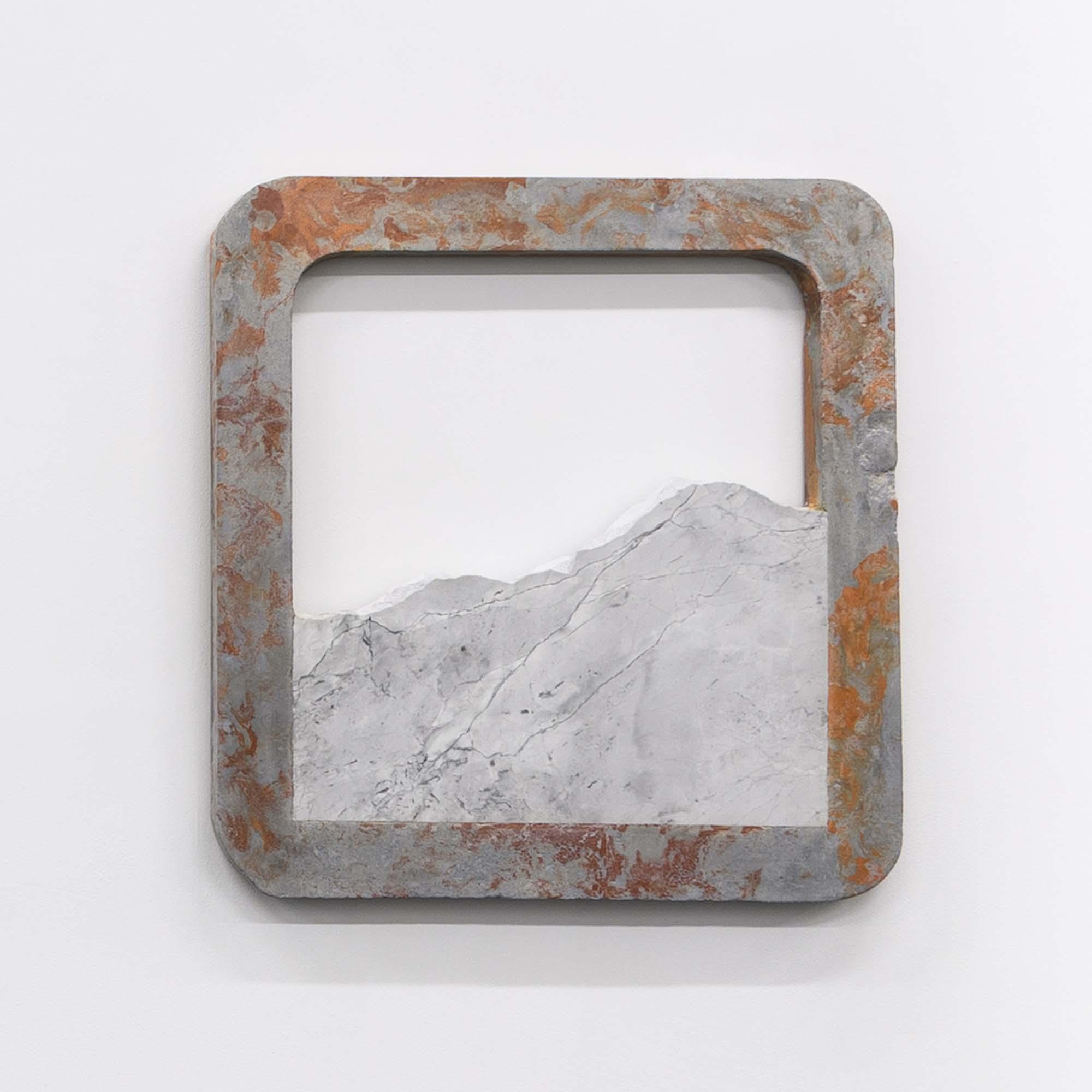 Rachel Mica Weiss, Bound Landscape III. 2018. Cast concrete, pigment, marble. 29