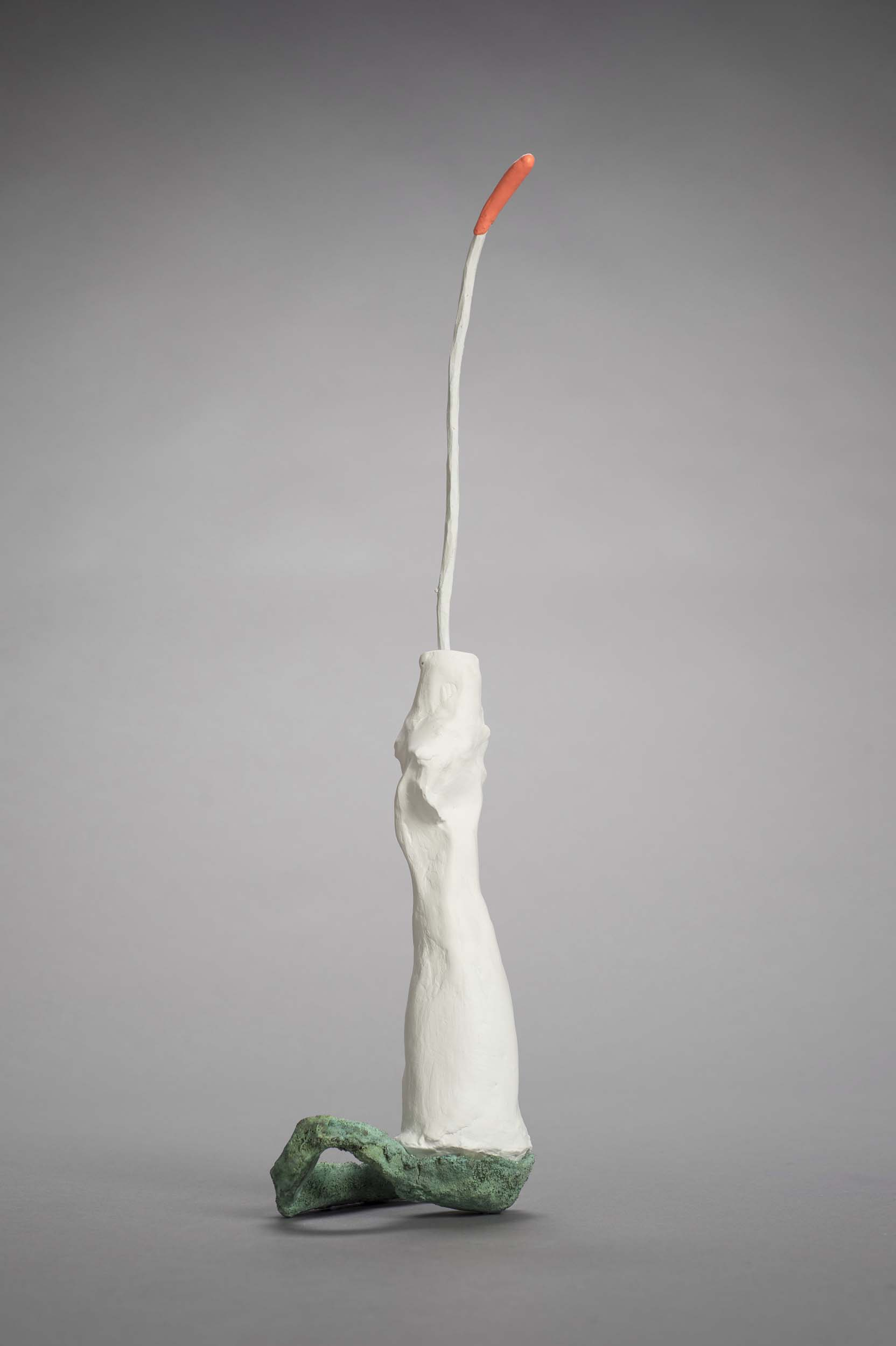 roberley bell, Something #11 bronze, plaster, wood , colored clay 21 x 6 x 5 2017