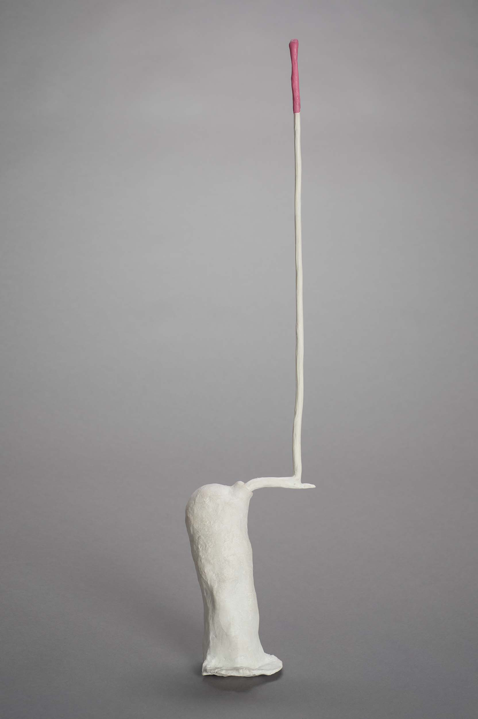 roberley bell, Something #14 2016 25 x 4 x 4 Porcelain, wood colored clay