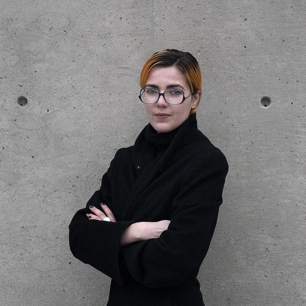 Portrait of Selby Nimrod, Assistant Curator, MIT List Visual Arts Center