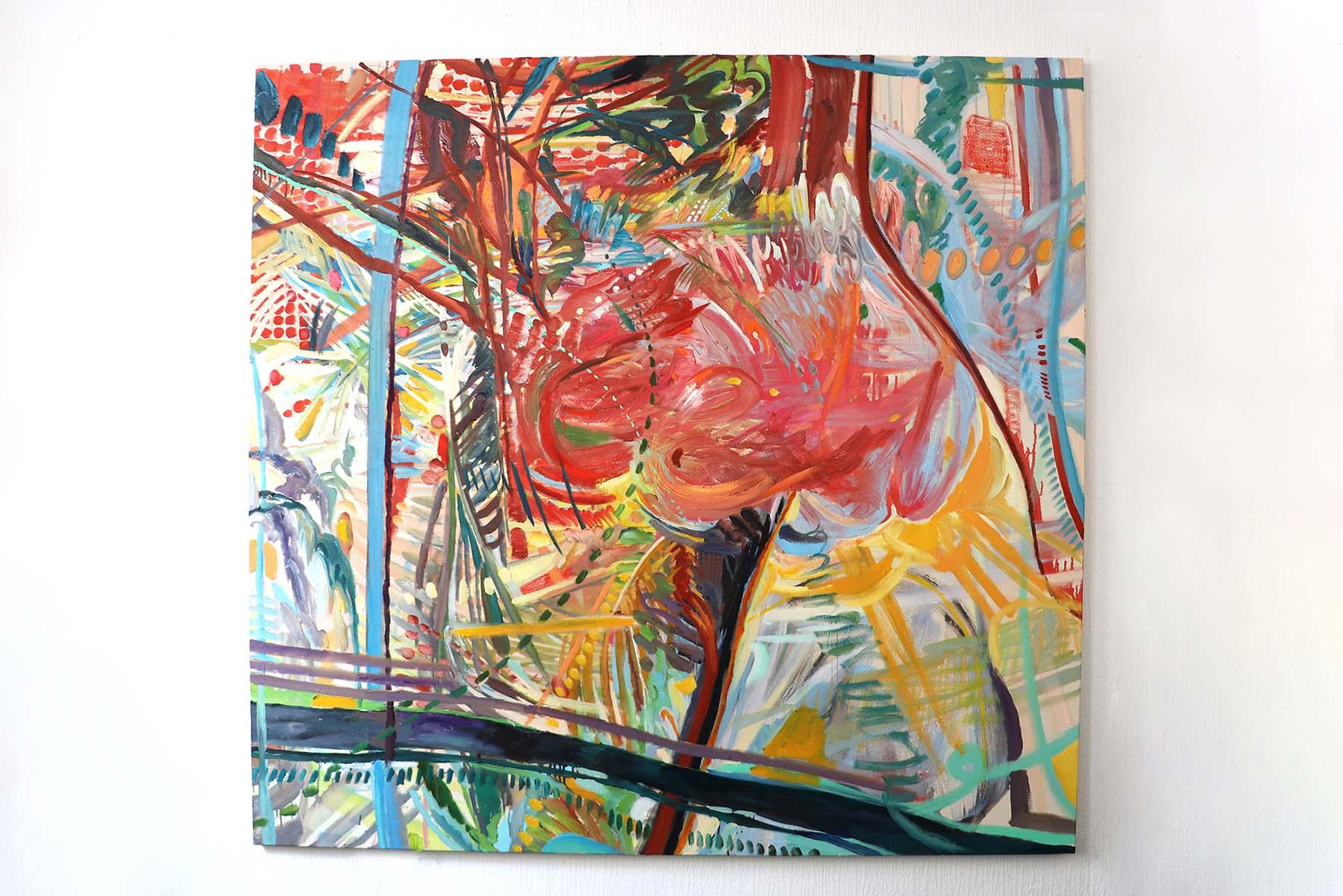 Sin Park, Bird Flight, 170x180cm, acrylic and oil on canvas, 2019