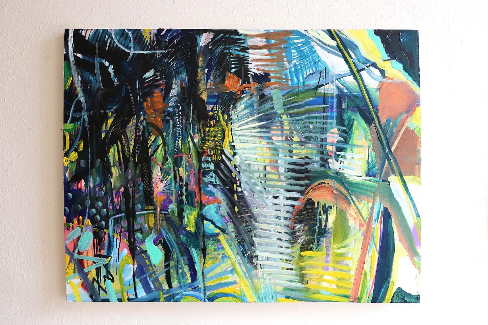Sin Park, Blinds, 75.5x 101.2cm, acrylic and oil on canvas, 2019