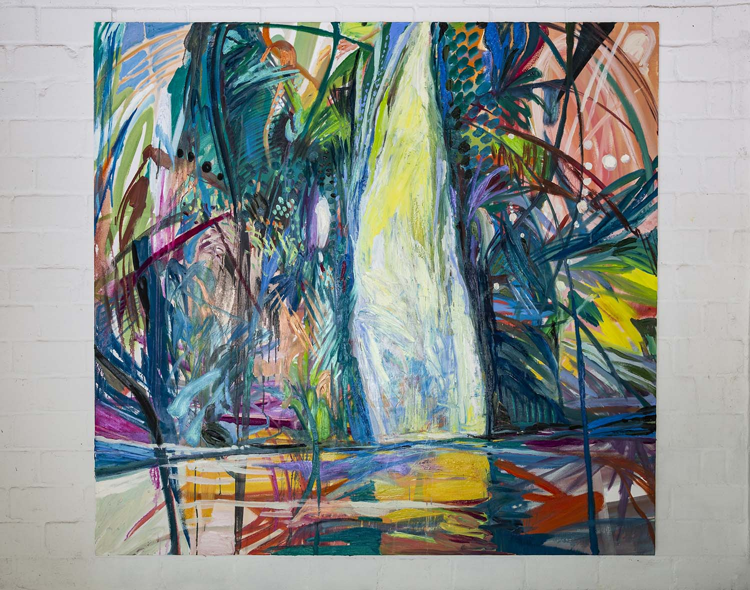 Sin Park, Clearing, 180x190cm, acrylic, oil pastel, oil on canvas, 2018