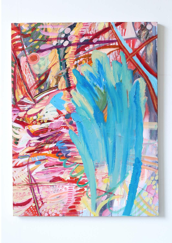 Sin Park, Splash, 121x91cm, acrylic,oil pastel, oil on canvas,2019