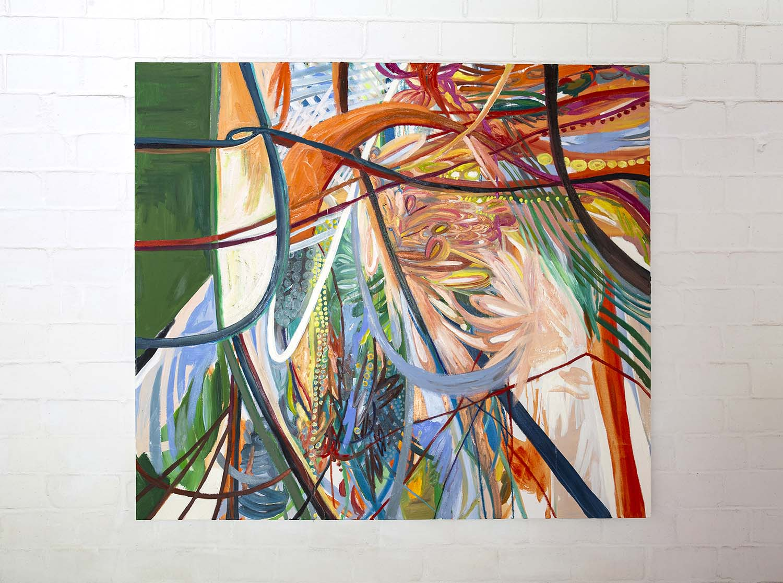 Sin Park, acrylic, oil pastel, oil on canvas, 2017
