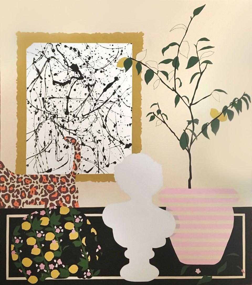 Albers Lemons 2018 acrylic on canvas 26x35
