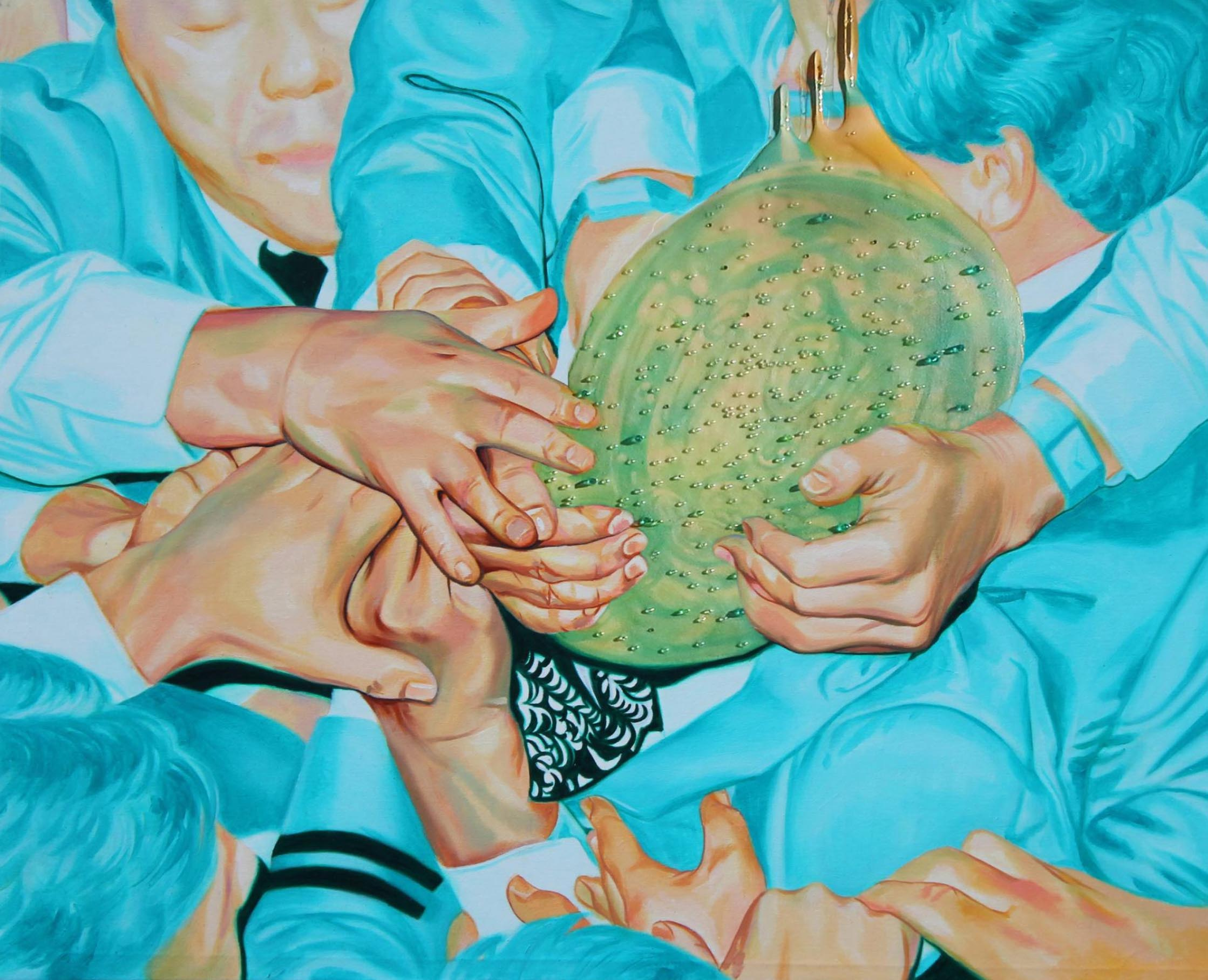 Su hyun Kim, Blue bird II , 2016, oil on canvas, 162 x 130 cm