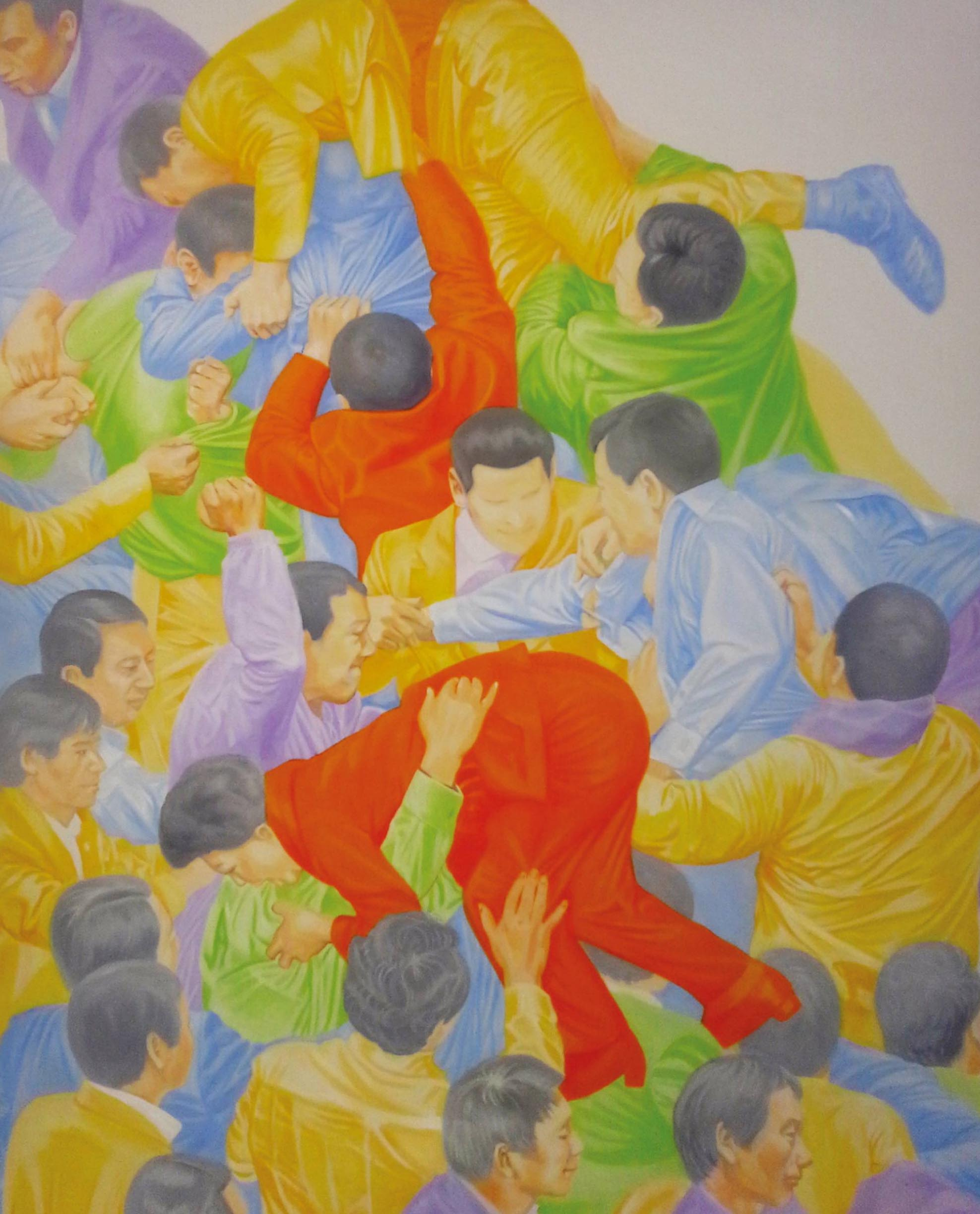 Su hyun Kim, Color Festival , 2017, oil on canvas, 162 x 130 cm
