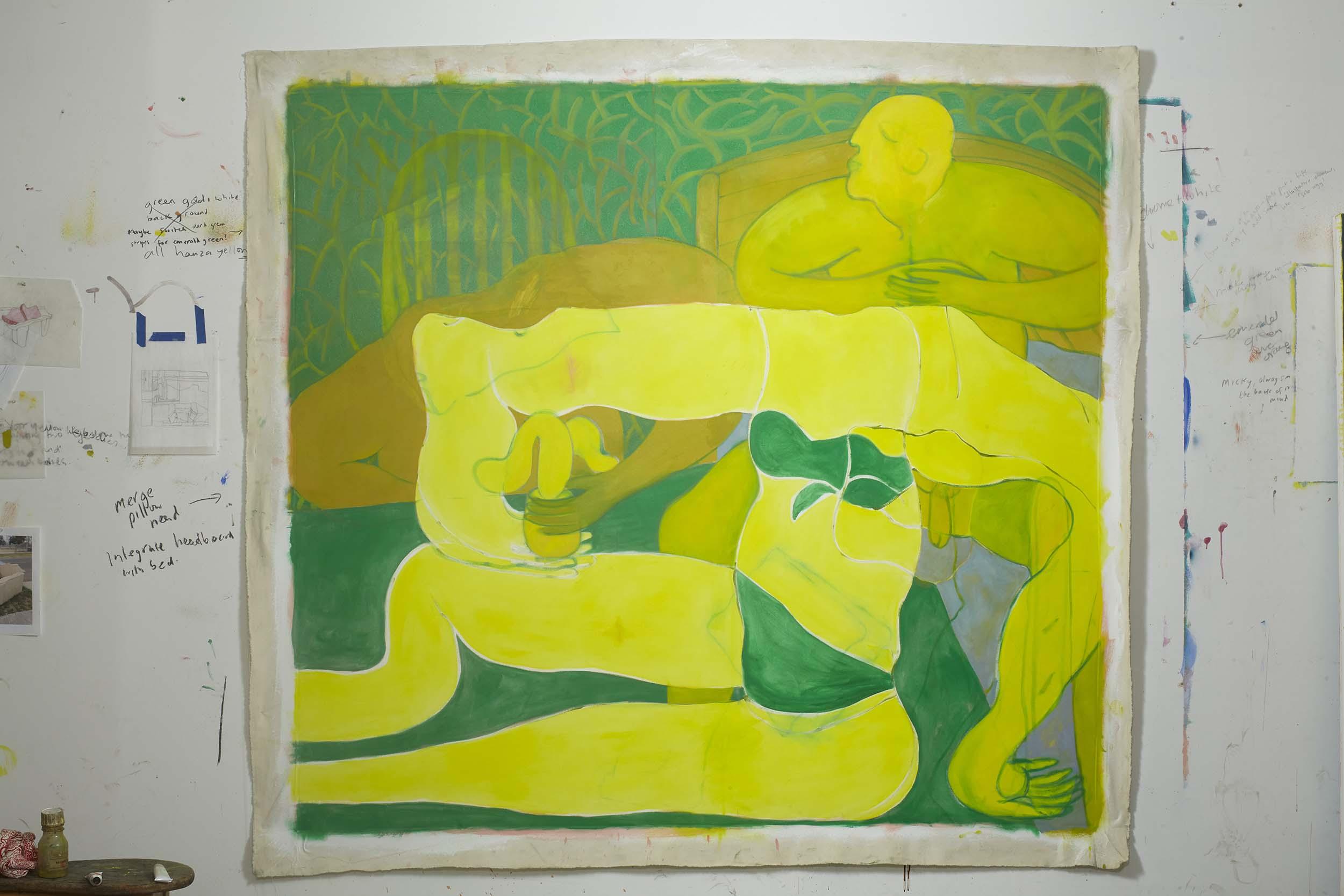 Tahnee Lonsdale, 'Posing Yellow Figure' - 83