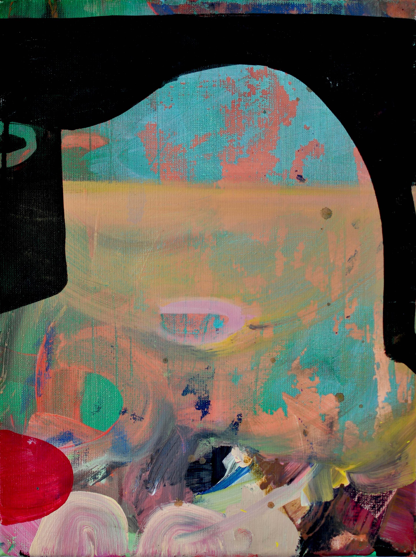 Untitled, W 30 cm x H 40 cm Acrylics on canvas 2017