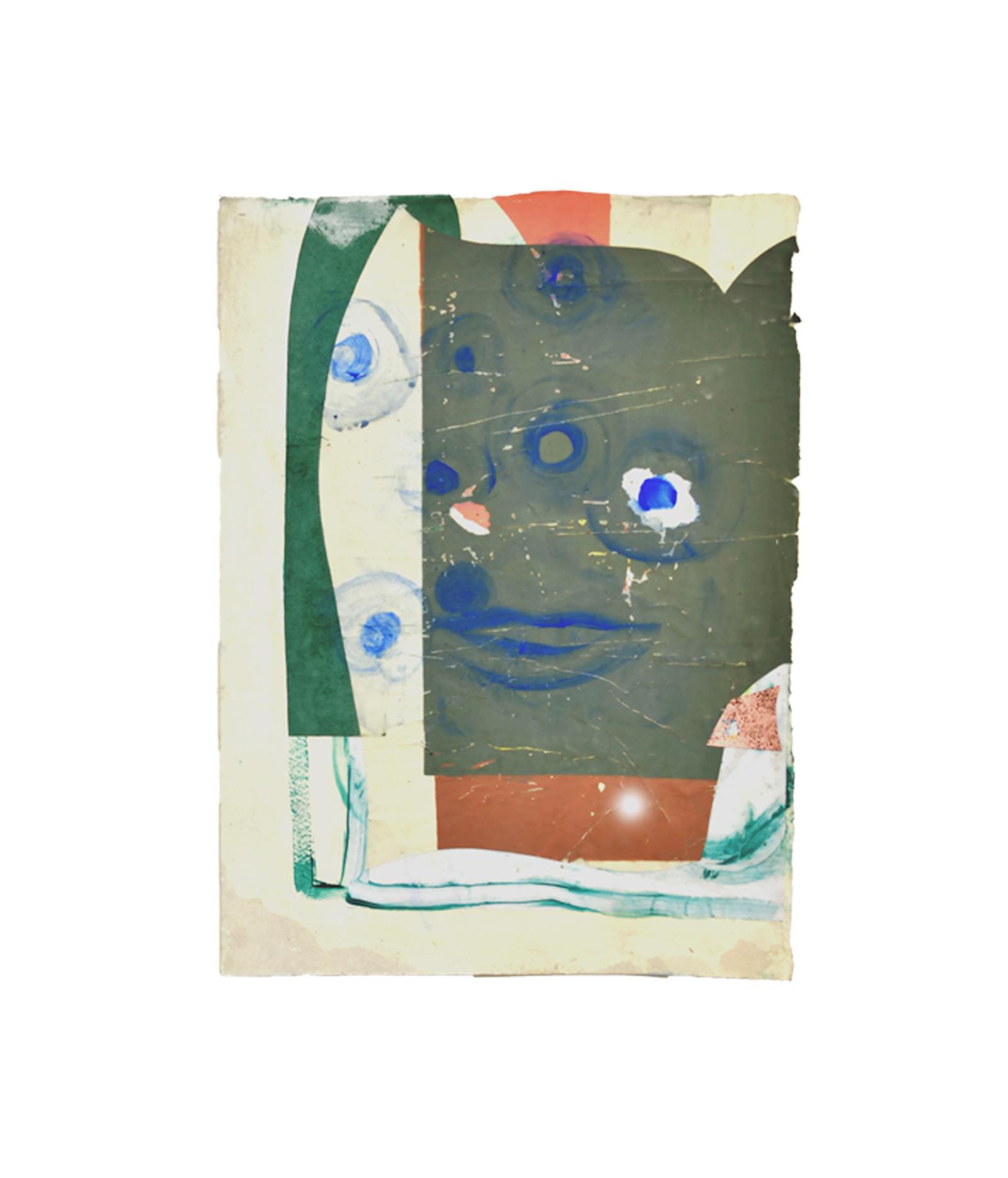 Friend Collage on paper, H 40 cm x W 30 cm 2018