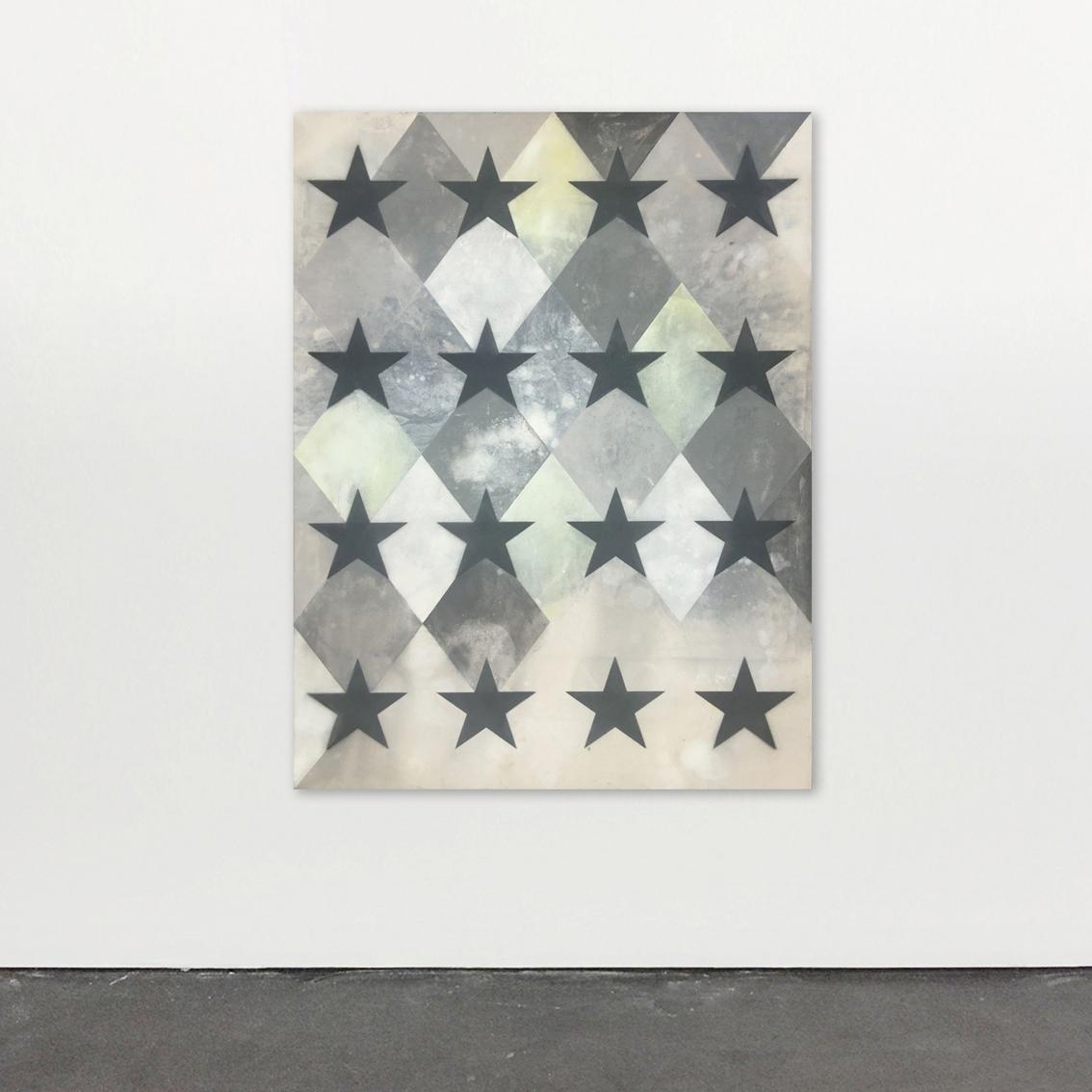 Siri, we can! 2018 Acrylics on Canvas, Spray Paint 60 x 44 inches