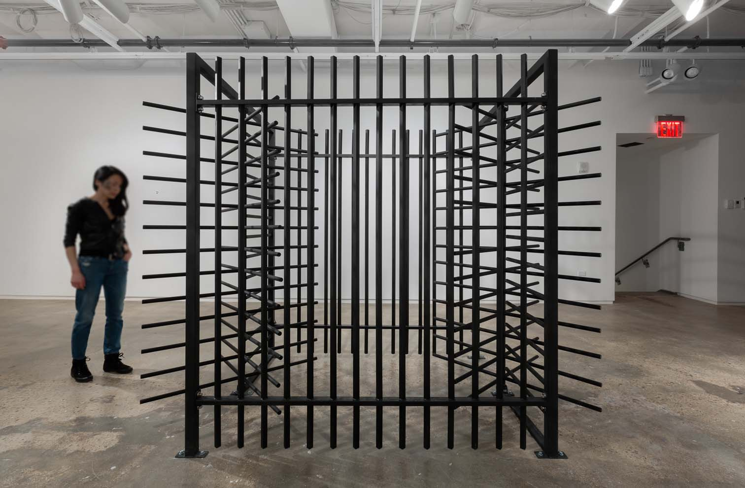 "Zac Hacmon, Title: Gateway (20180 Media: Steel Dimensions: 55.5"" x 124"" x 85"" Inch Interactive installation"